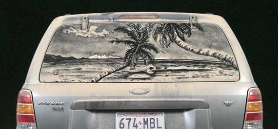 Scott Wade's dirty car art